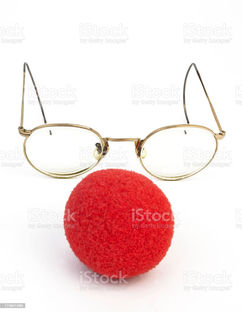 Nose and Glasses stock photo