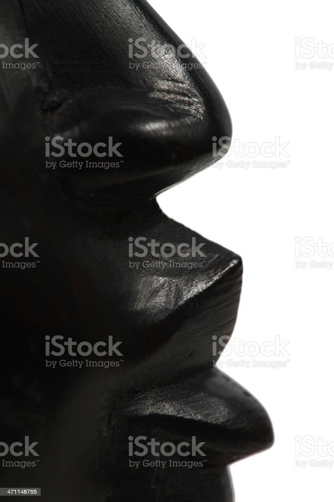 Nose and lips royalty-free stock photo