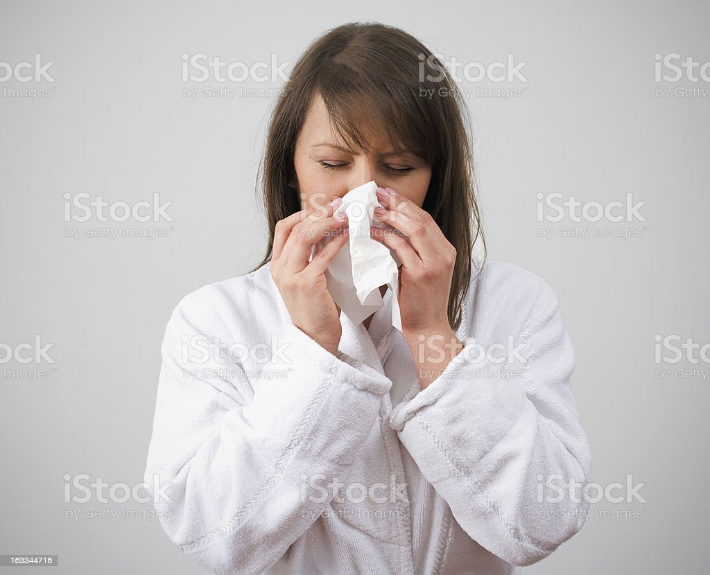 Nose Blow royalty-free stock photo