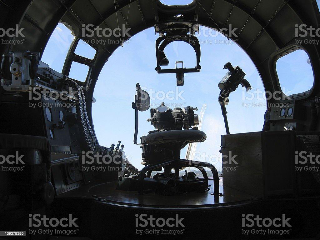 B-17 Nose Gunner Station royalty-free stock photo