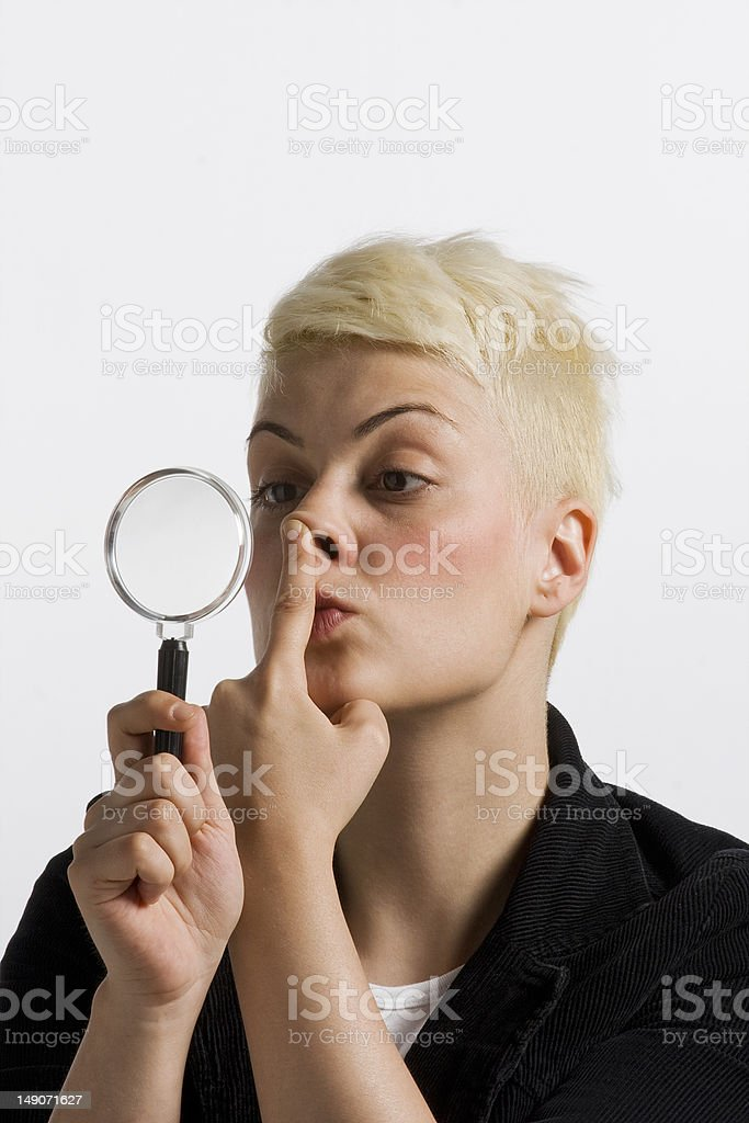 nose job stock photo
