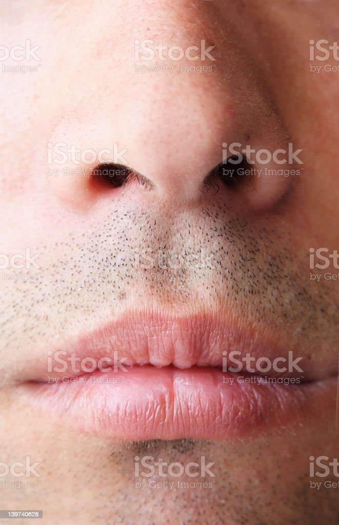 nose mouth stock photo