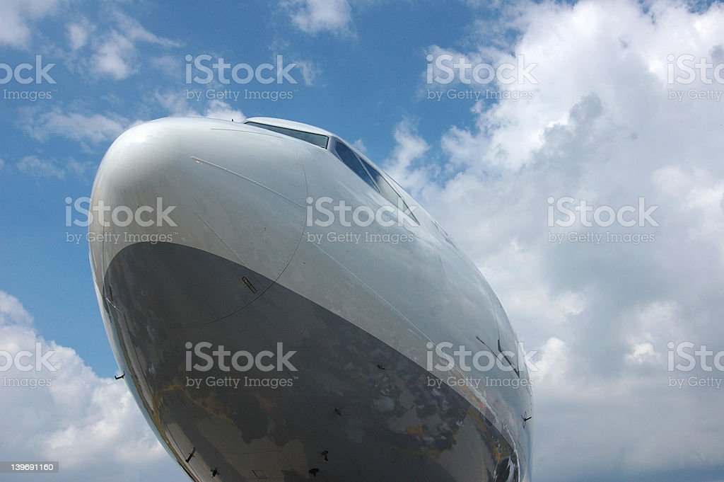 Nose of an aircraft royalty-free stock photo