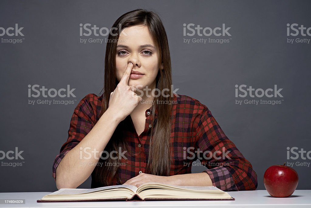 Nose picker royalty-free stock photo
