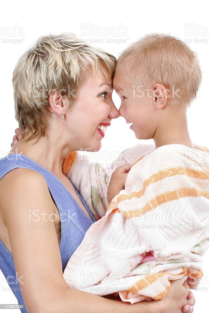 Nose to nose royalty-free stock photo