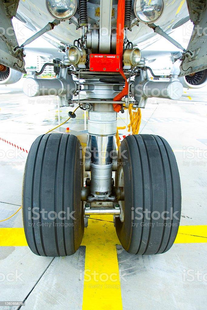Nose Wheel stock photo