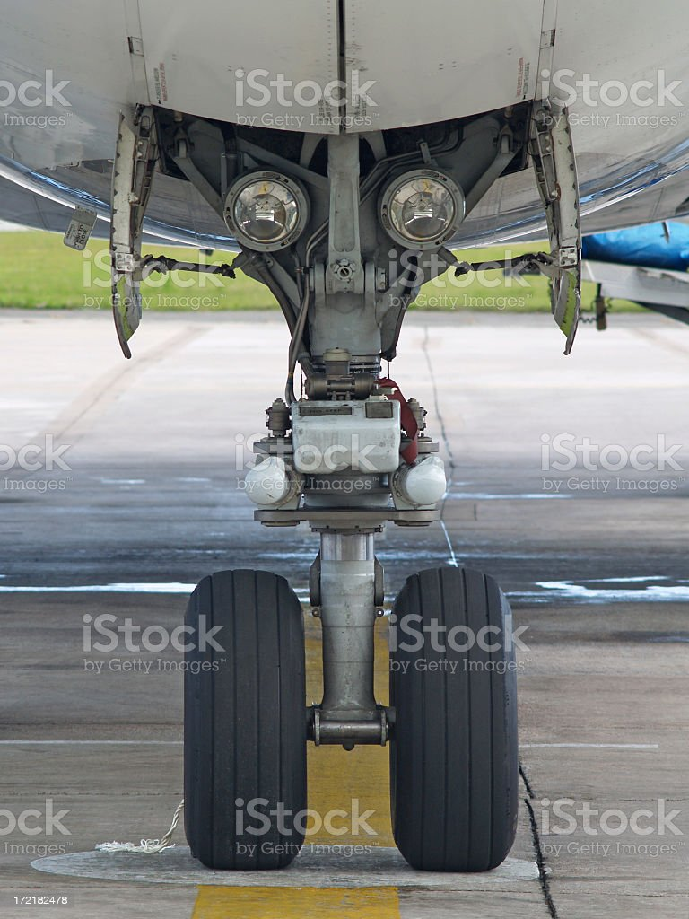 Nose Wheel stock photo