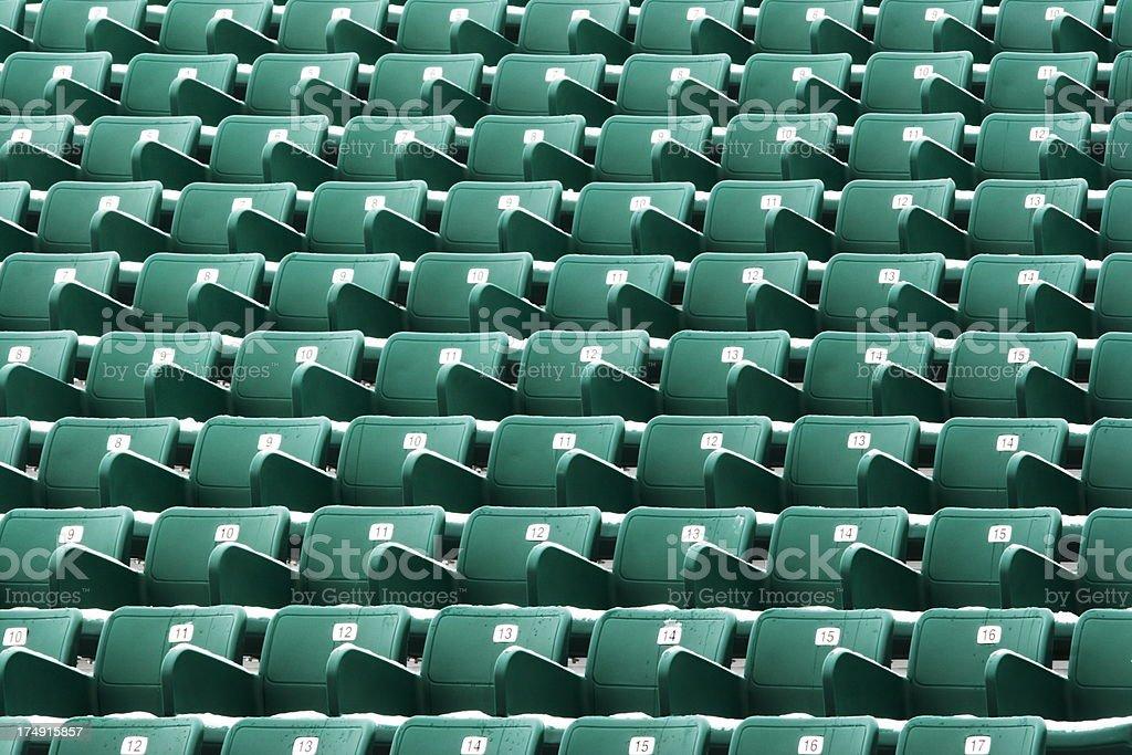 Nosebleed Seating Stadium Bleachers stock photo