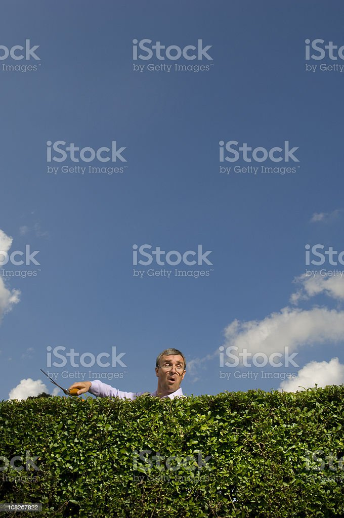 nosey parker stock photo
