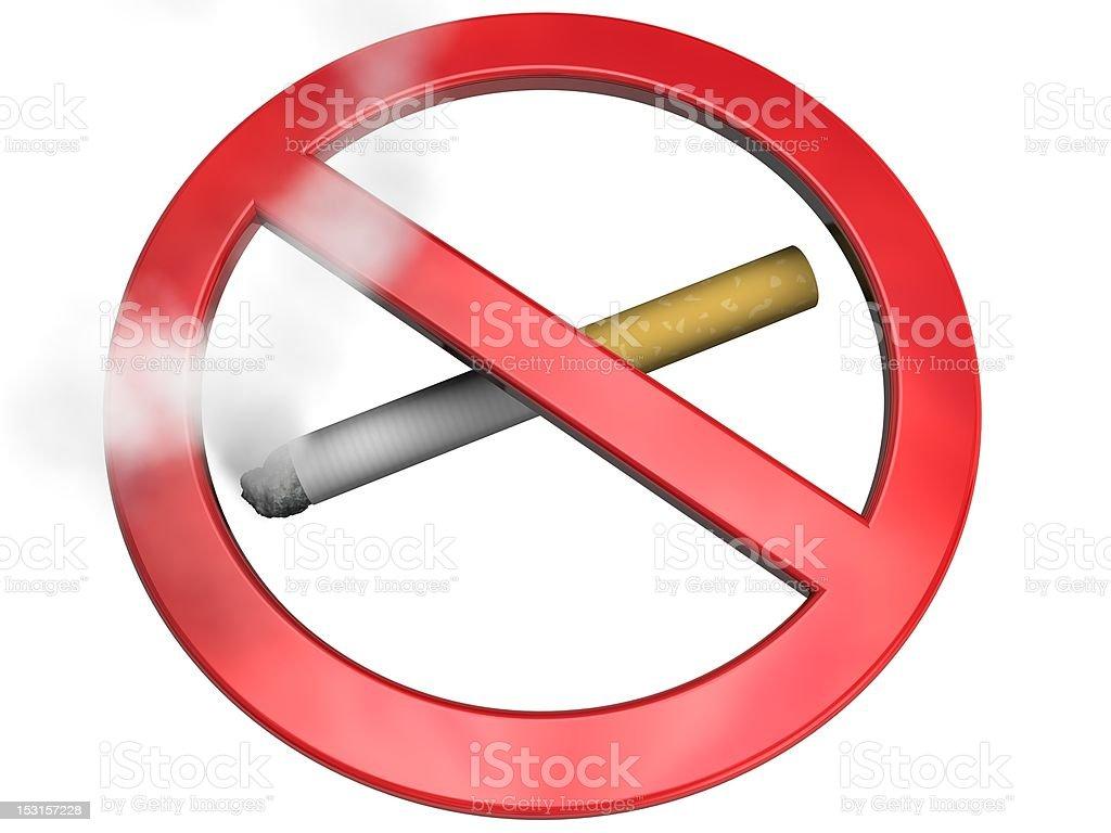 no-smoking sign stock photo
