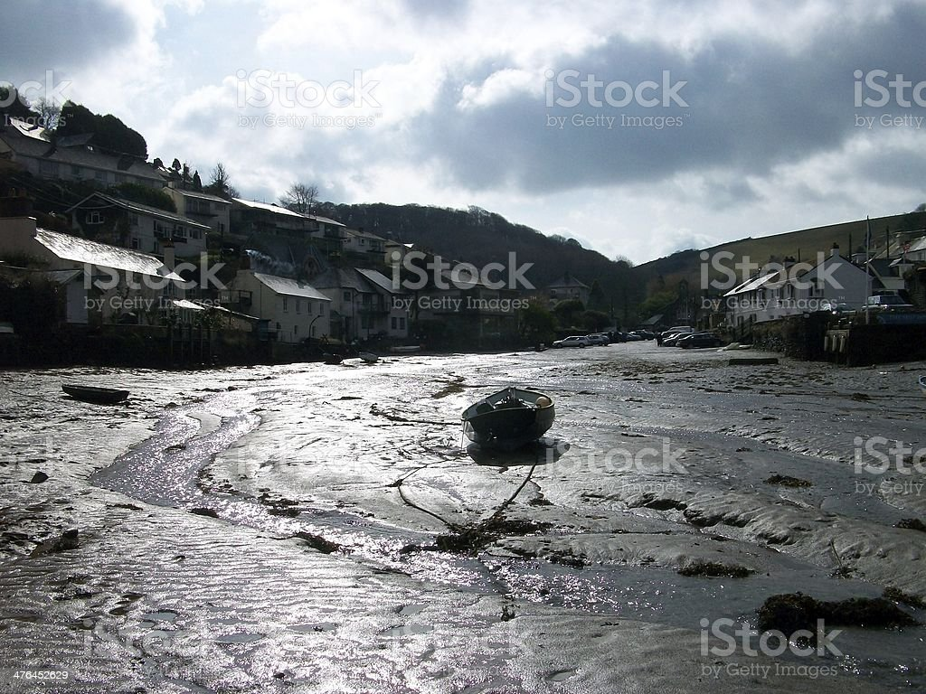 noss mayo at low tide stock photo