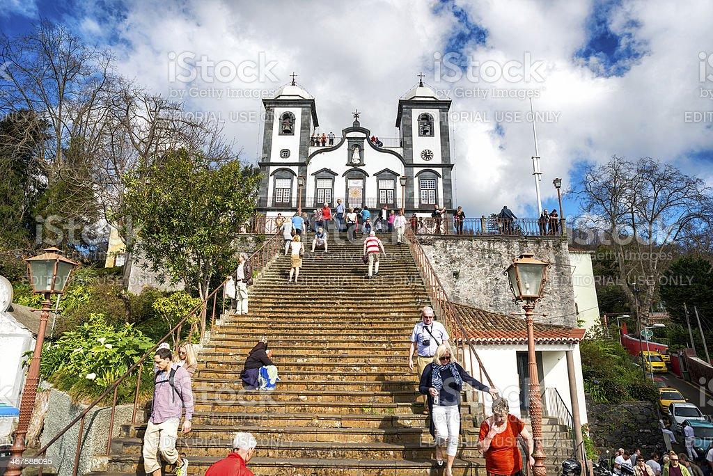 Nossa Senhora do Monte , Madeira stock photo