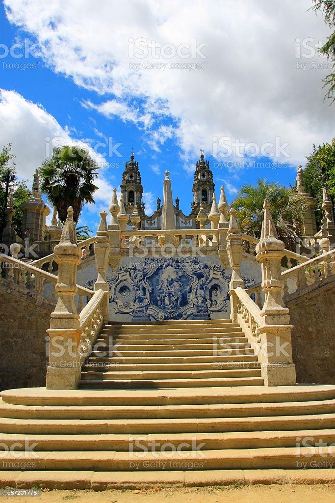 Nossa Senhora dos Remedios, Lamego, Portugal stock photo