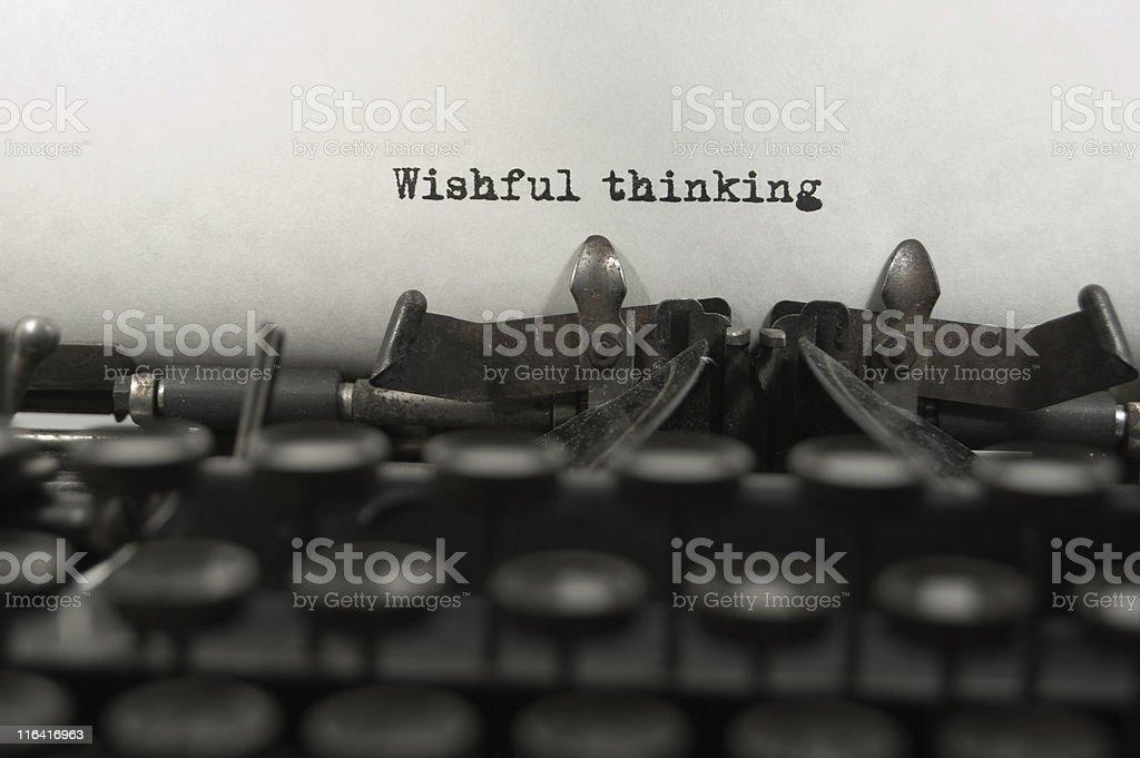 Nostalgia using a vintage typewriter. royalty-free stock photo