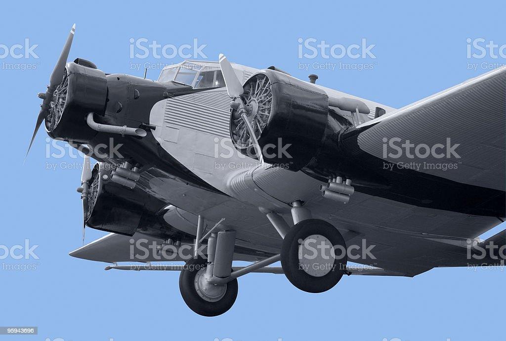 nostalgic aircraft detail royalty-free stock photo