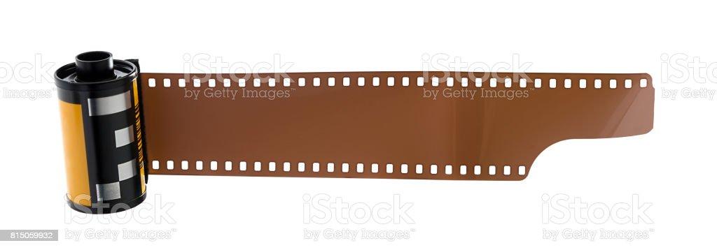 Nostalgic Camera Film with Copy Space stock photo