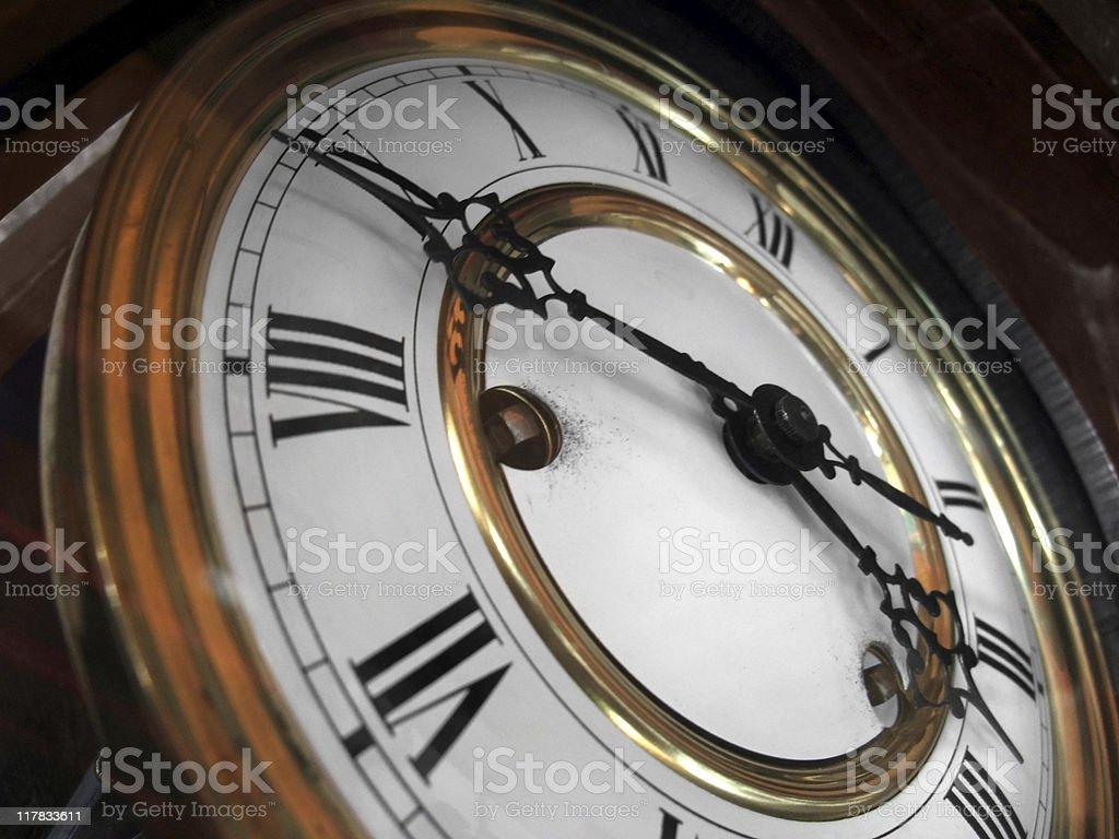 nostalgic clock detail royalty-free stock photo