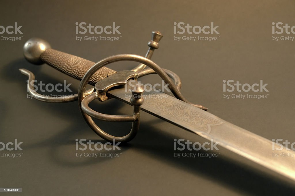 nostalgic rusty sword royalty-free stock photo