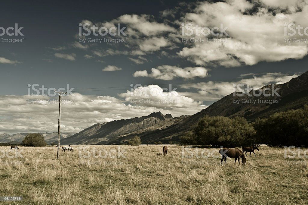 Nostalgic Valley stock photo