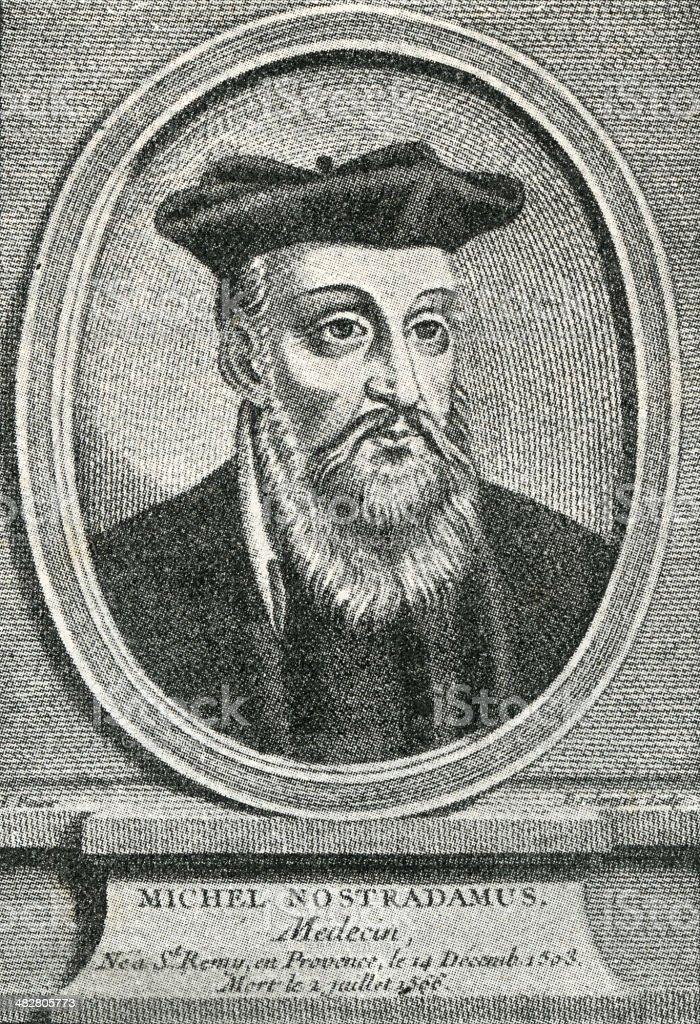 Nostradamus royalty-free stock photo