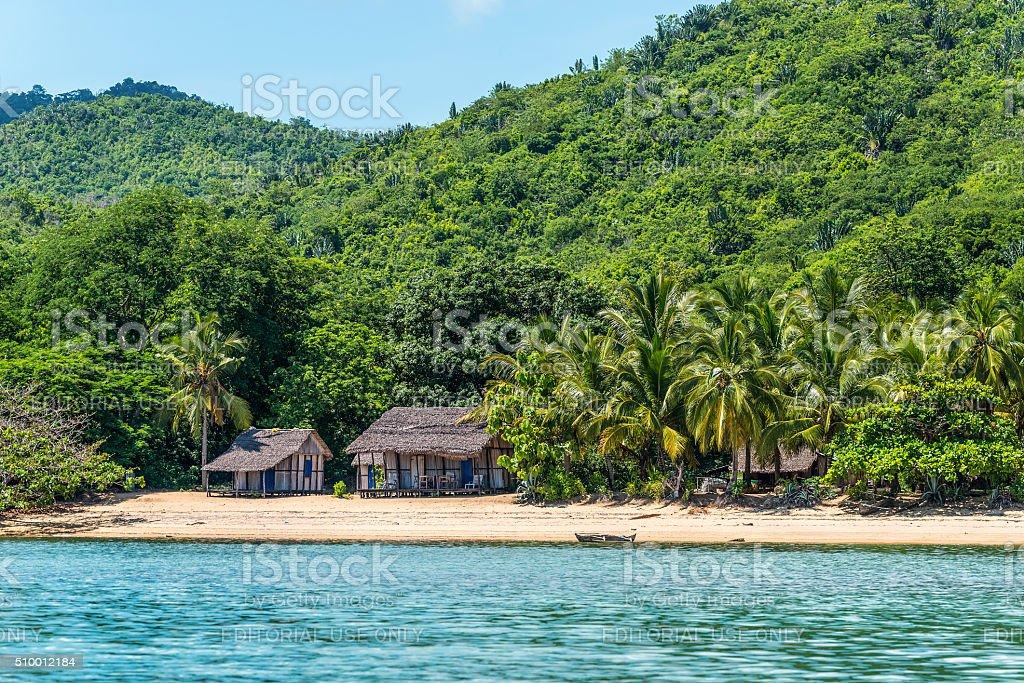 Nosy Be beach in Madagascar stock photo