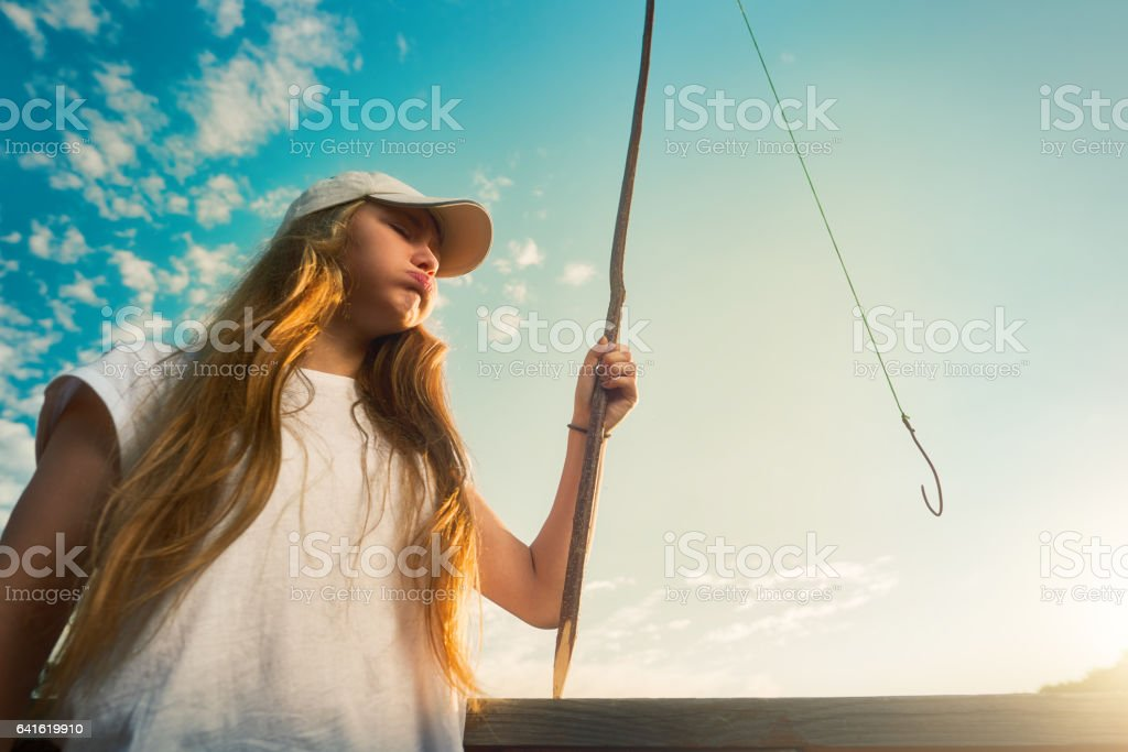 not a great day at fishing stock photo