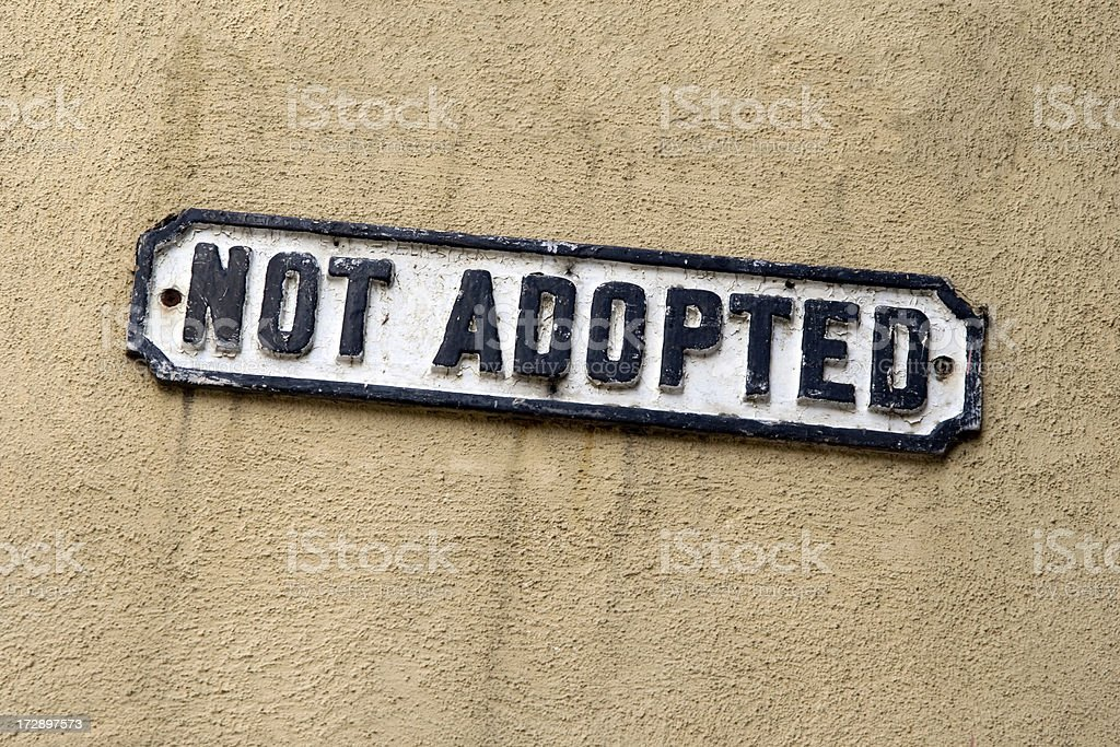 Not adopted royalty-free stock photo