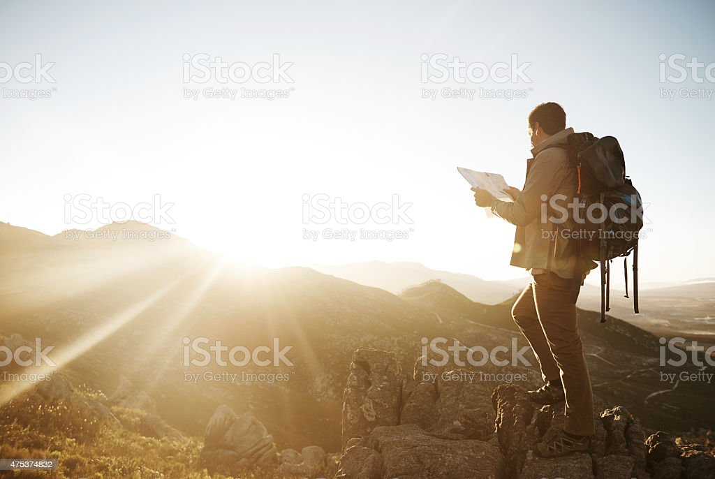 Not all those who wander are lost stock photo