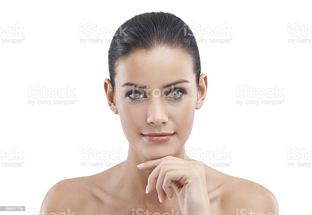Not an imperfection or wrinkle in sight stock photo
