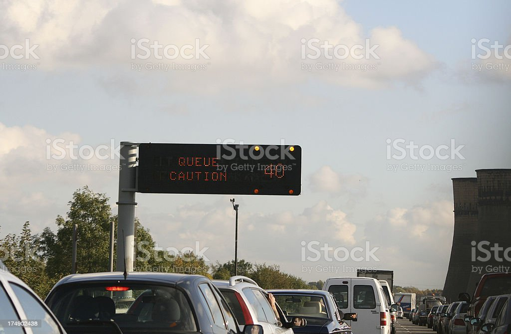 Not another delay on the M1 stock photo