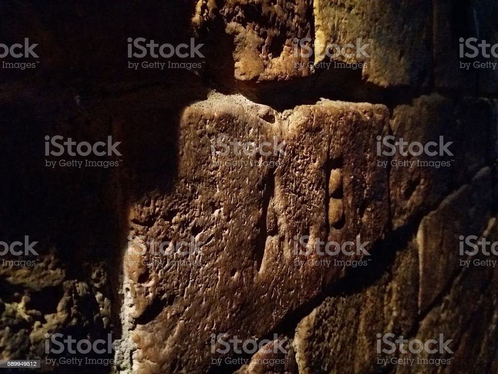 Not another stone in the wall. stock photo