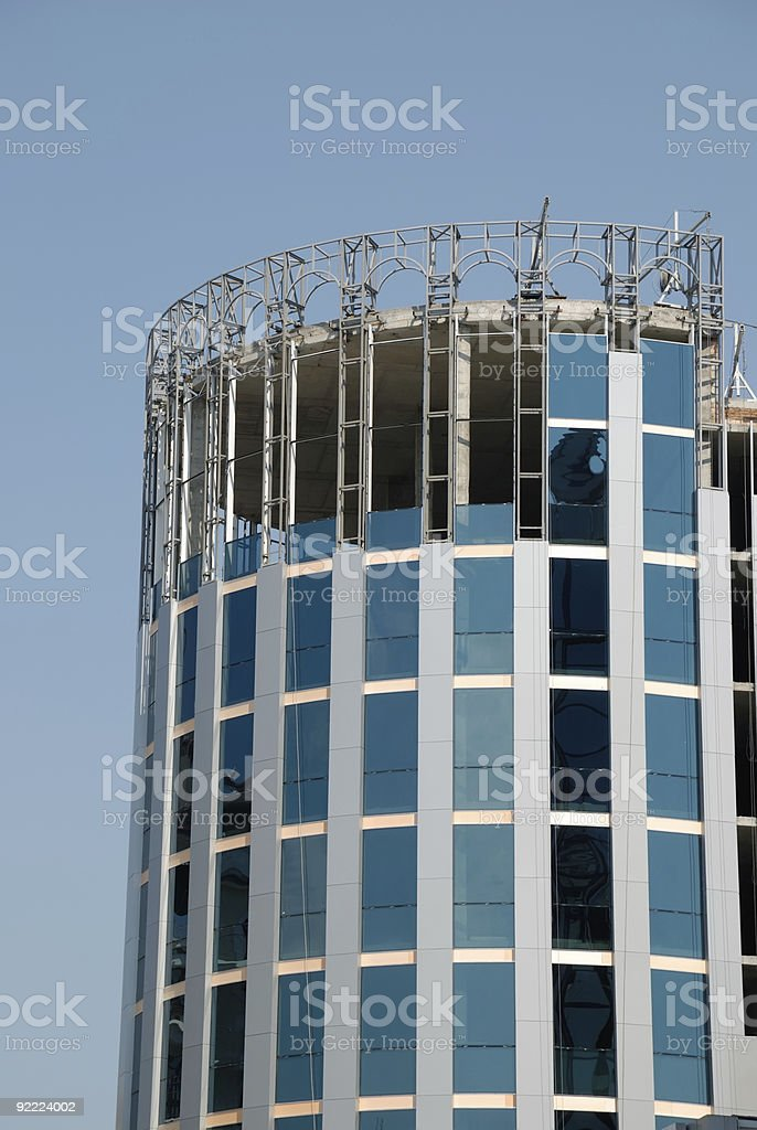 Not complete building of a skyscraper royalty-free stock photo