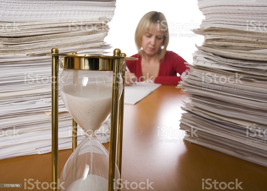 Not enough time to finish job royalty-free stock photo