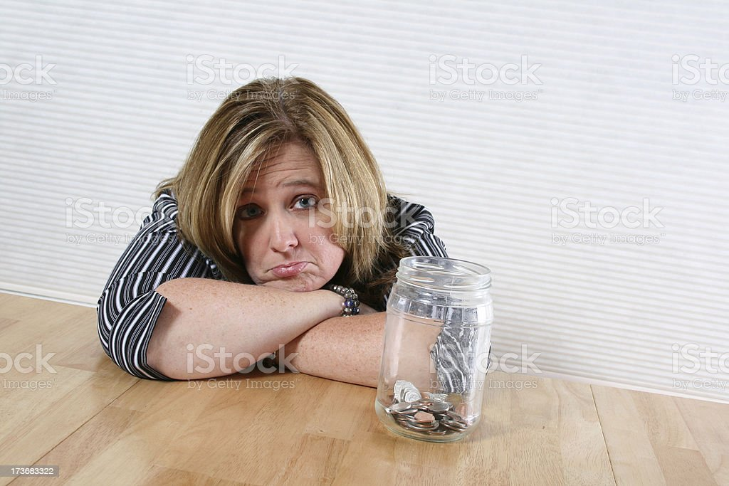 Not enough to last royalty-free stock photo