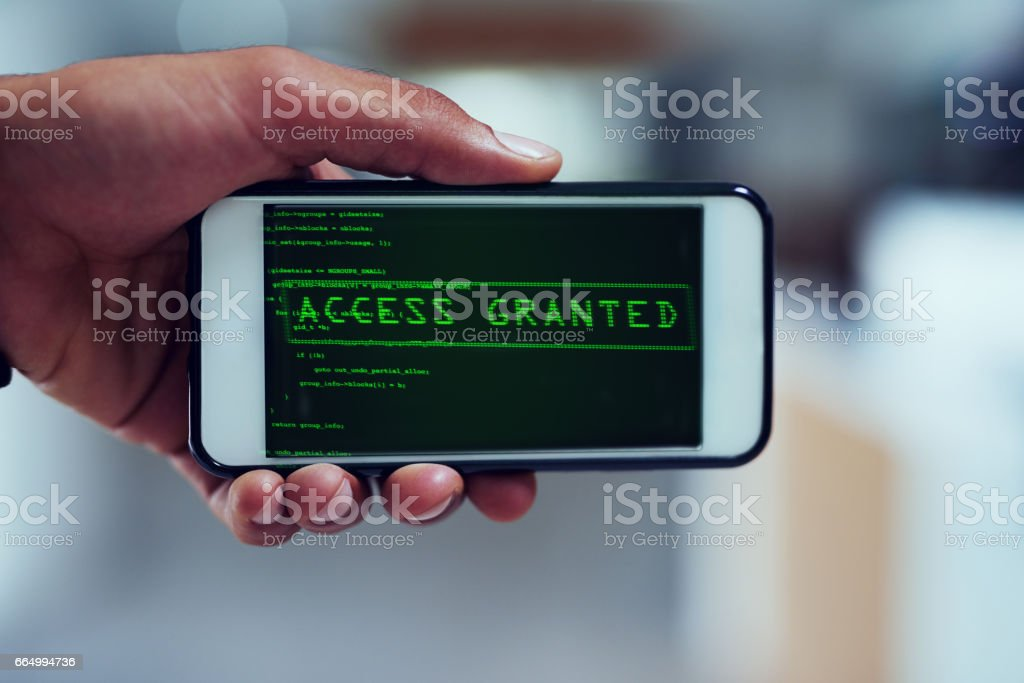 Not even your smartphone is safe stock photo