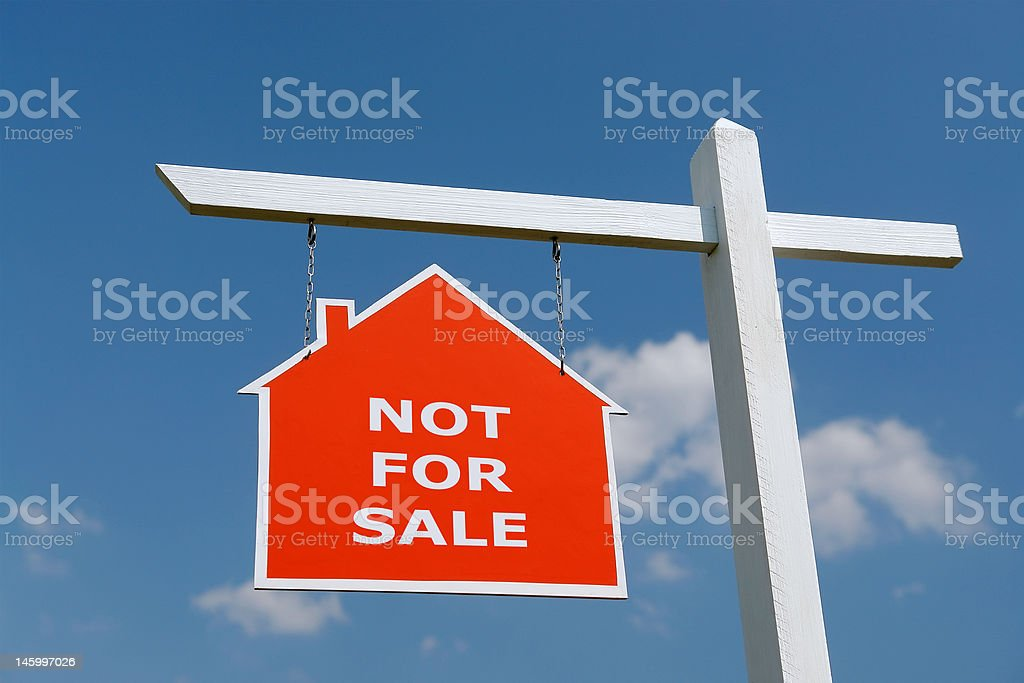 Not for Sale signpost royalty-free stock photo