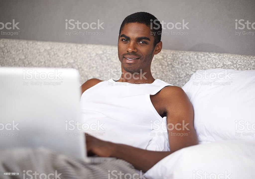 Not getting out of bed this Saturday royalty-free stock photo