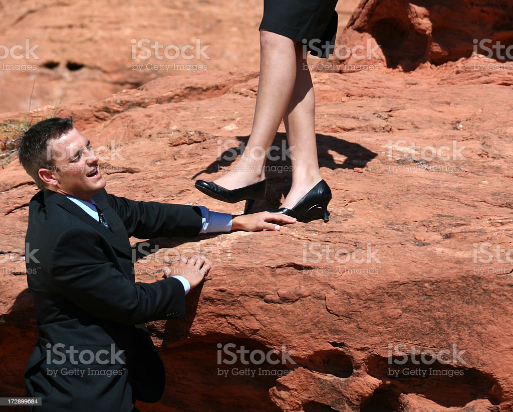 Not getting up here! stock photo