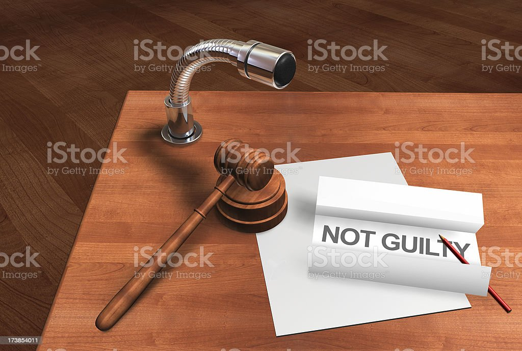 Not Guilty royalty-free stock photo