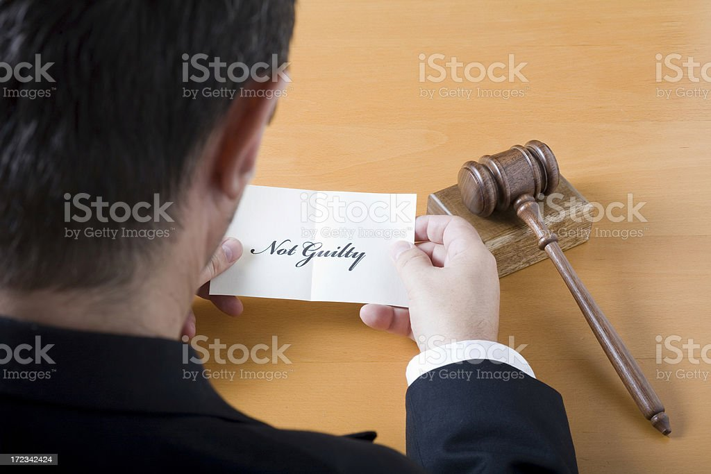 Not guilty verdict royalty-free stock photo