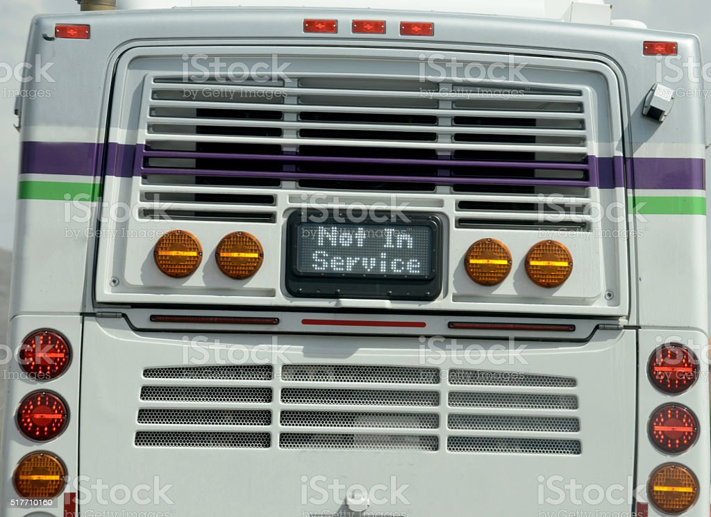 not in service bus stock photo
