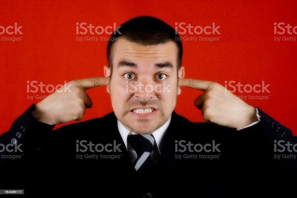 Not listening! royalty-free stock photo