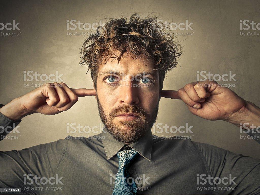 Not listening stock photo