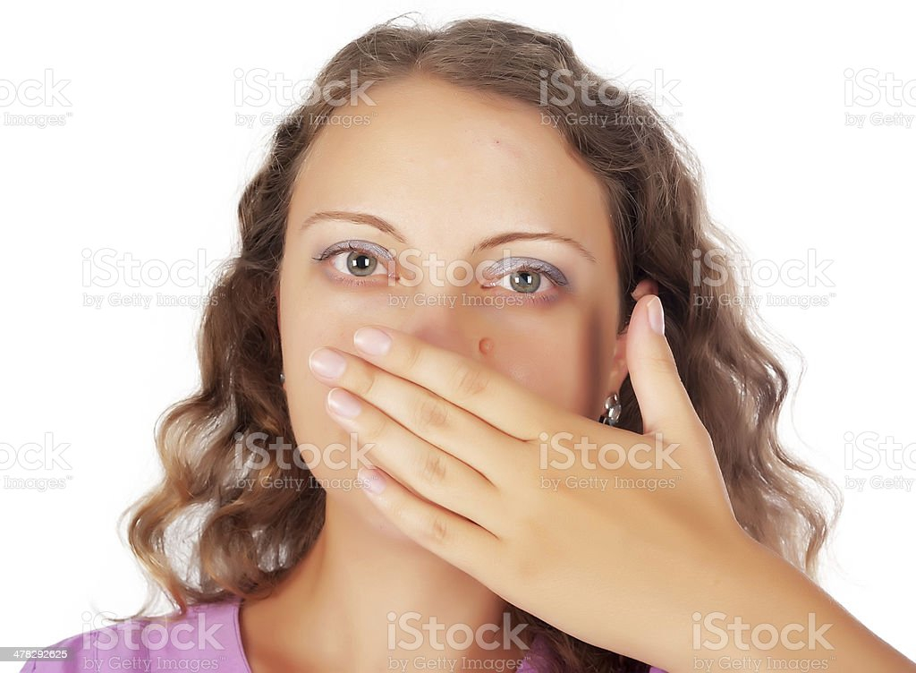 Not say gesture royalty-free stock photo