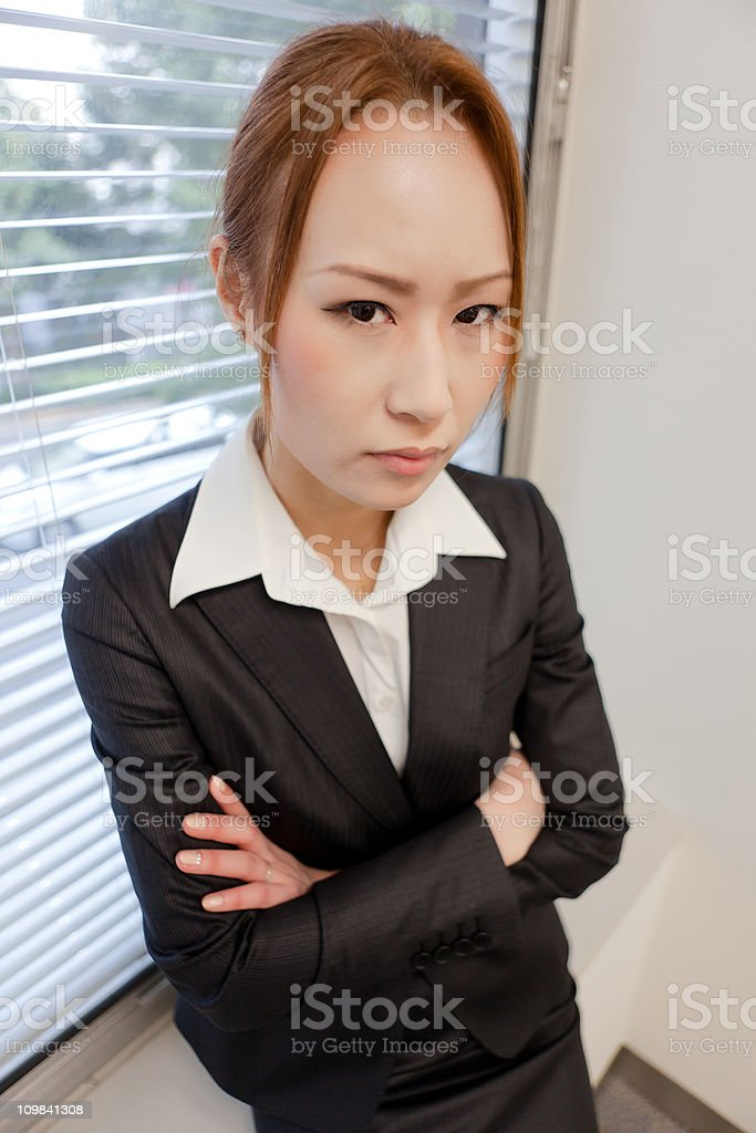 Not so happy business woman royalty-free stock photo