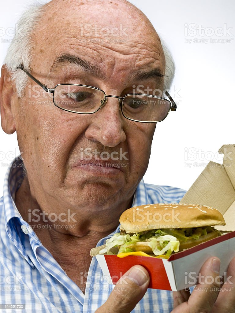 Not sure about fast food royalty-free stock photo