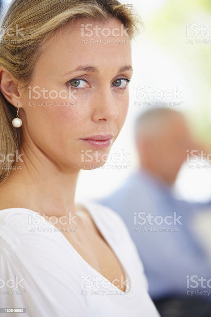 Not sure if she should stay or go... royalty-free stock photo