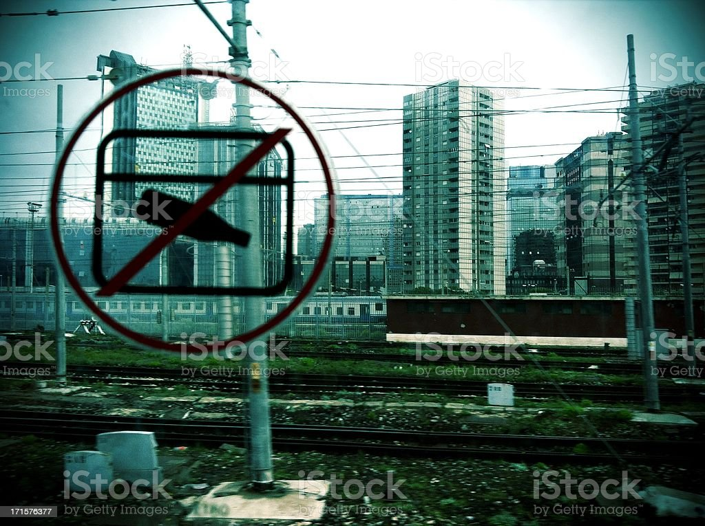 Not to dirty the city. royalty-free stock photo