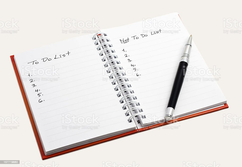not to do list royalty-free stock photo