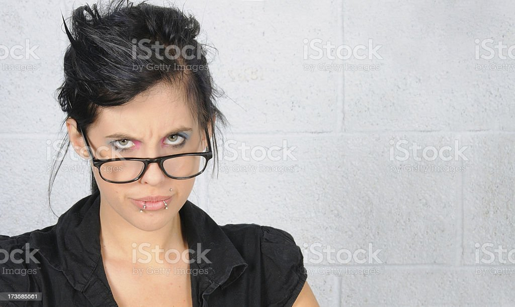 Not too happy stock photo